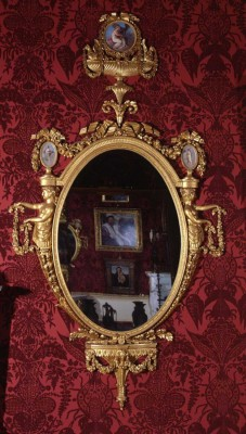 The Gallery at Harewood near Leeds has large Chippendale mirrors