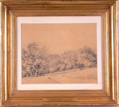 Harewood House by John Cotman is a pencil drawing