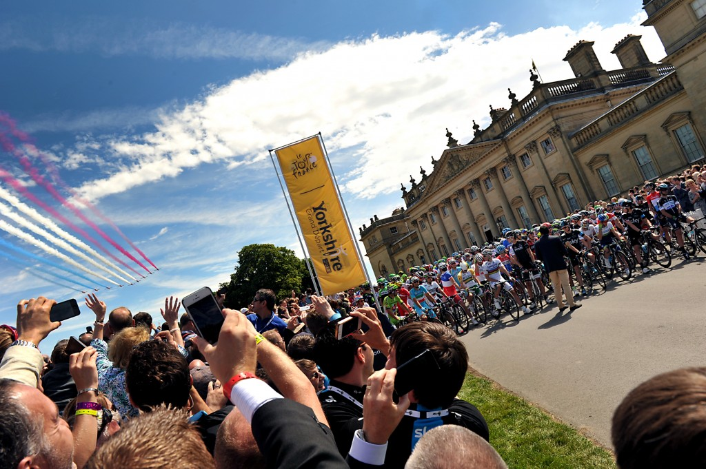 Harewood House at the start of the 2014 Grand Depart