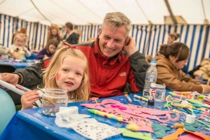 Face painting at Harewood, Leeds