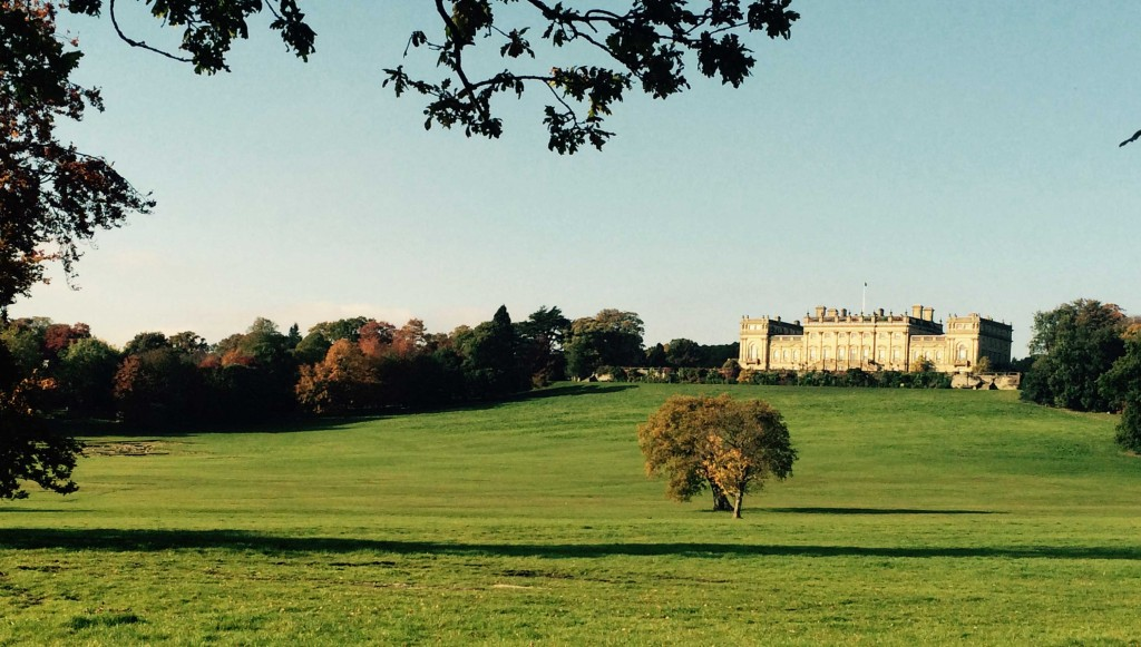 View of Harewood House in autumn
