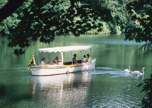 Harewood House near Leeds has a boat