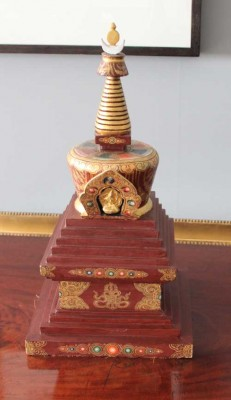 See a model of Harewood's Stupa in the House