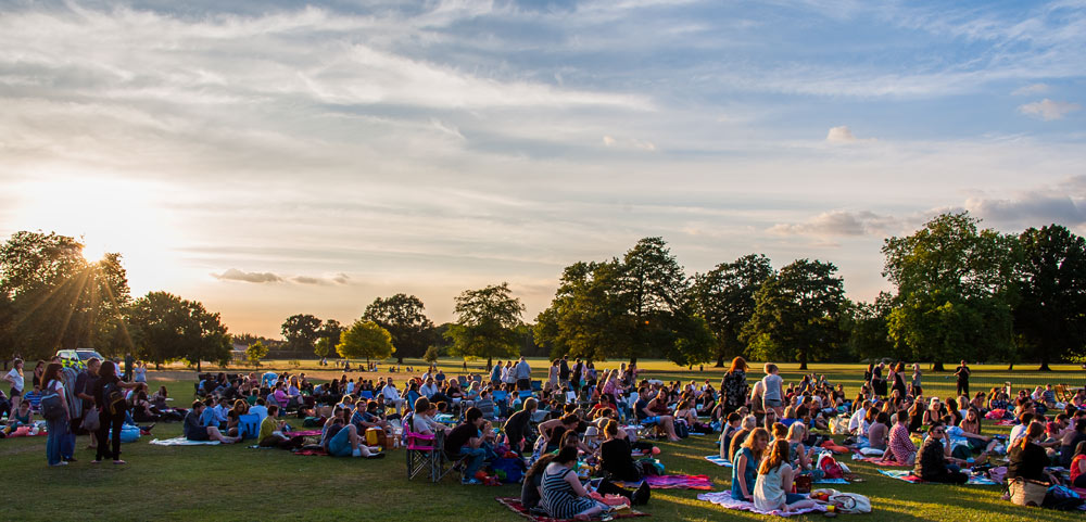Open Air Cinema at Harewood, West Yorkshire