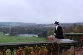 Capability Brown designed Harewood House landscape in Yorkshire