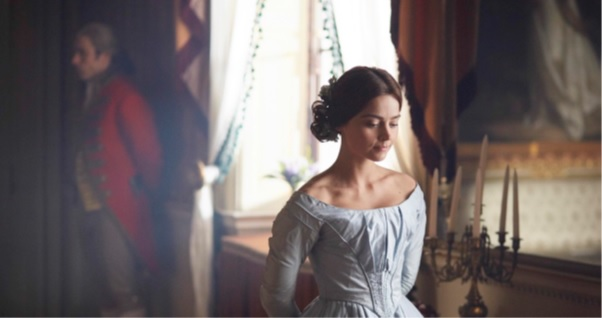 Victoria on ITV was filmed at Harewood and includes Jenna Coleman