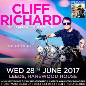 Visit Harewood to see Cliff Richard in concert