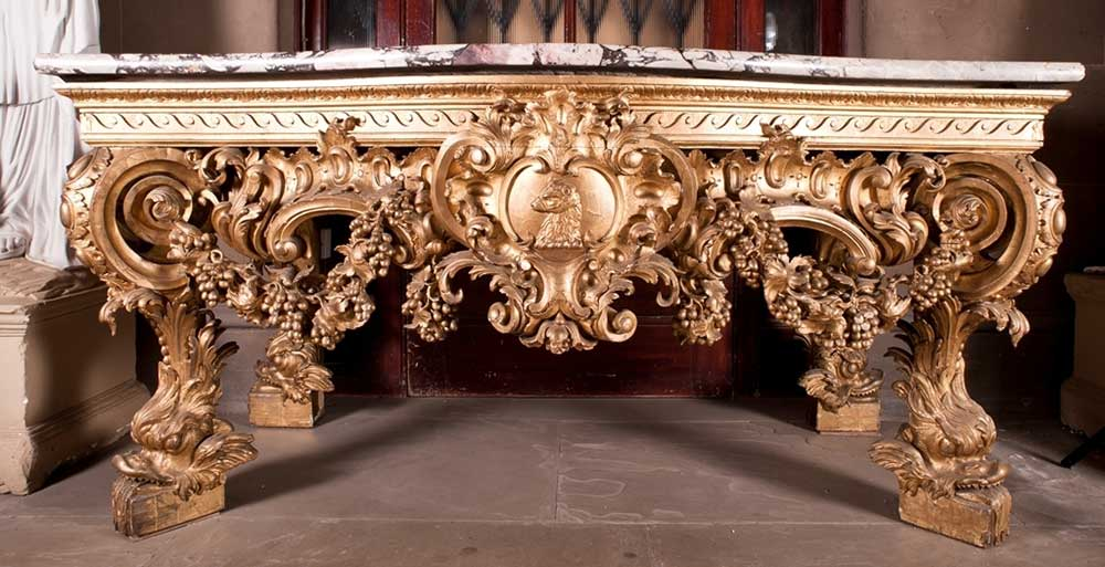Visit Yorkshire to see Giltwood Tables at Harewood House