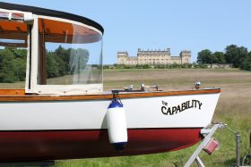 The Boat on the lake at Harewood House