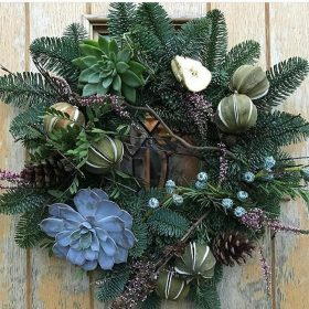 Christmas Wreath Making with Leafy Couture