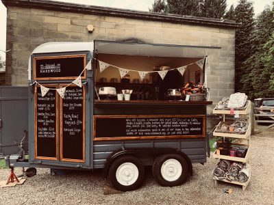 The Horsebox selling cream teas and prosecco at Harewood