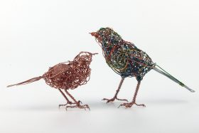 Festive Wire Birds