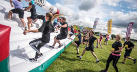 Gungo Ho inflatable fun run at Harewood, Leeds