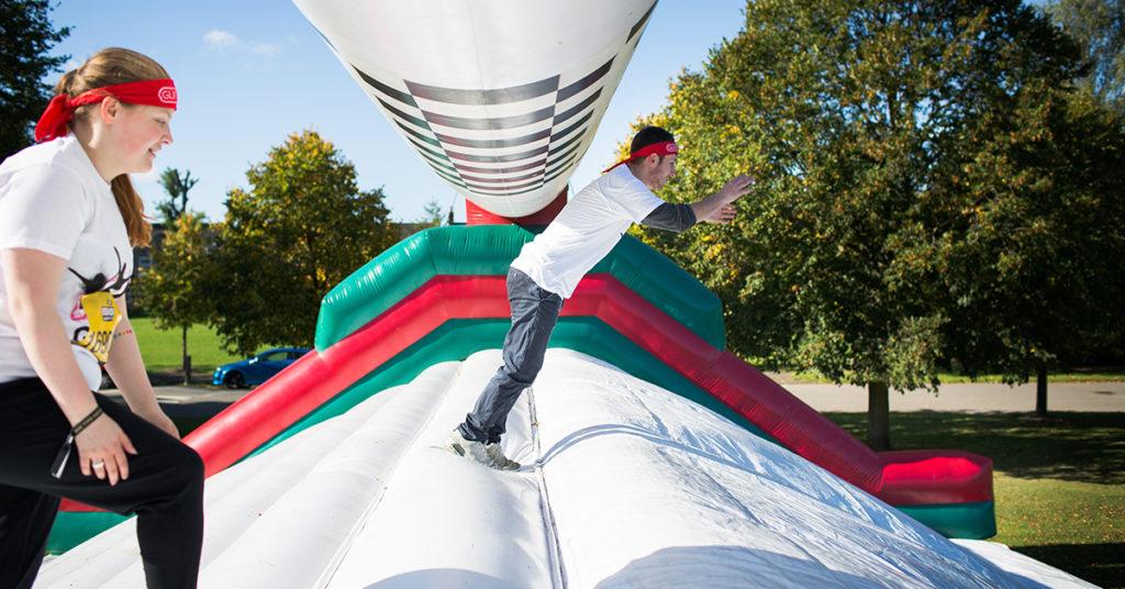 Gungo Ho inflatable fun run at Harewood, Leeds