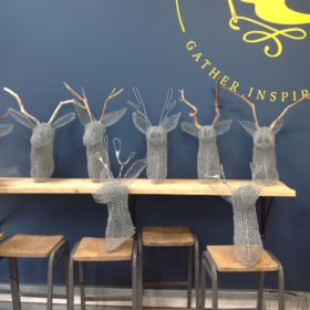 Festive Wire Stag Head