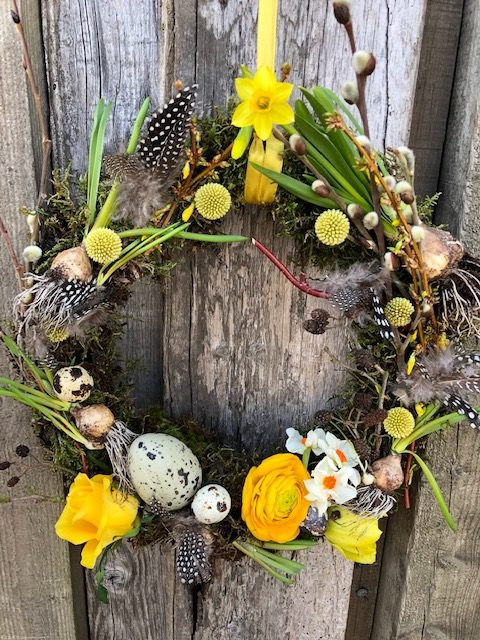 Spring Wreath Making with Leafy Couture 3