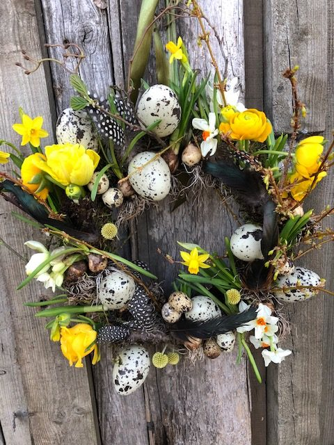 Spring Wreath Making with Leafy Couture 5