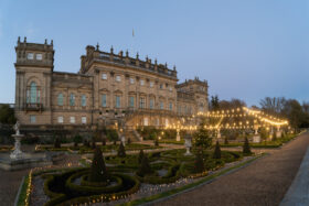 The Terrace at Harewood after dark