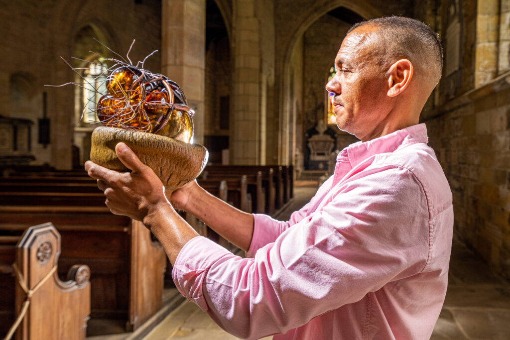 Craft Spotlight - The inaugural display in All Saints Church at Harewood, featuring glass blower, Chris Day Open until October 31