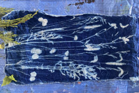 Example of what you can make at our cyanotypes workshop